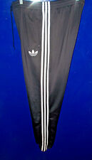 ADIDAS FIREBIRD TRACK PANTS - BLACK with WHITE 3-STRIPES -  LARGE