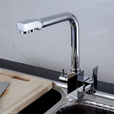 Kitchen Sink Faucet Bar Mixer Tap with 3 Way Pure Filter Water Supply Spout 035