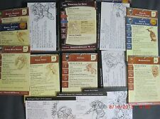 Large Lot of Dungeons & Dragons Miniatures Stat Cards NICE Selection !! s71
