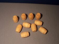 HO Gauge * Lot of 10 * Wine Barrels * NEW * Freight or Cargo * Unpainted