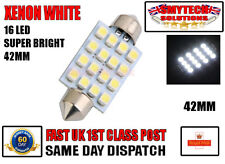 x4 Large 16 LED Interior Light New Bright Xenon White VW,T4 T5 Transporter 42mm