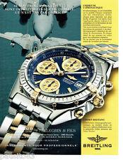 PUBLICITE ADVERTISING 096  1999  Breitling  montre Chronomat aéronautique