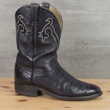 Hondo Boots El Paso Texas Black Bullhide BIker Cowboy Boots 11 D