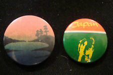 OLD RARE SET VINTAGE RETRO MUSIC POP JAPAN EIGHTIES PROMOTION PIN BUTTON BADGES