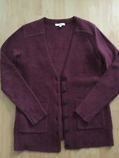 Madewell Wool Blend Burgundy V-neck Cardigan Size Small/XS NWOT