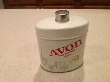 Vintage Avon Spicy Talc For Men Tin Antique Cars New York At Least 3/4 Full