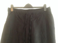 BNWT M&S Maternity Black Cropped Linen Blend Trousers Size 14