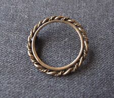 ANTIQUE VICTORIAN GOLD FILLED BRAIDED FRAME PIN FOR PHOTO OR MEDALLION