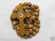 """† """"TO BE BLESSED"""" 50% OFF SALE MEDJUGORJE SIMPLE WOOD CARVED ROSARY NO CENTER †"""