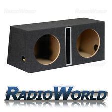 "12"" MDF Slot Port Twin Sub Box Subwoofer Enclosure Bass Empty Enclosure Double G"