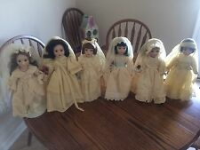 6 Danbury Mint Brides of America Porcelain Dolls Betsy/Margaret/Susan/Julia