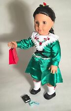 "American Girl Josefina 18"" GUC Doll in Box + 2 Xmas Navidad Outfits + New  Books"