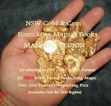 CD - NSW Gold Manning Valley Region 20 eBooks - 62 FREE Forestry Fossicking Maps
