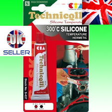 HIGH TEMPERATURE SILICONE RED UP 300°C ADHESIVE SEALANT Gasket * Technicqll 20ml