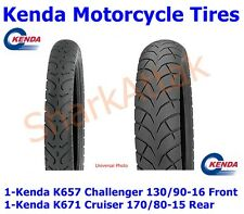 130 90 16 Front Challenger & 170 80 15 Rear Cruiser Kenda Motorcycle Tires