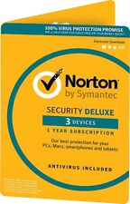 Norton Security Deluxe 3 Devices 1 Year Email Code EU version Only