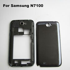 Black bezel frame middle frame battery door cover samsung galaxy note 2 n7100