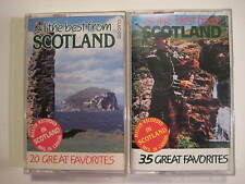 Lot of 2  Original Vintage All Best From Scotland Volumes 1 & 2 LDMI Cassettes