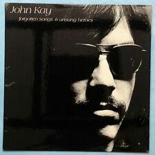 JOHN KAY ~ FORGOTTEN SONGS & UNSUNG HEROES ~ 1972 US 9-TRACK LP + LYRIC INSERT