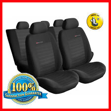 Universal CAR SEAT COVERS full set fits Renault Clio charcoal grey PATTERN 4