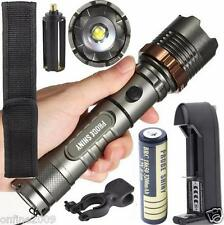 Tactical Flashlight 5000LM XM-L T6 LED Zoomable Torch Lamp+Battery+Charger US059