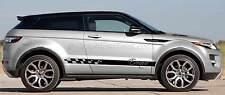 Range Rover Evoque Côté Personnalisé Autocollants Décalcomanie graphique à rayures-couleurs diverses