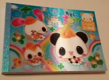 Rare Kamio Japan 3D Panda Cat Kawaii Large Memo Pad Happy Ice Cream Desserts