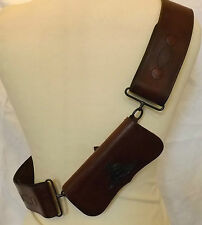 Military Royal Regiment Of Artillery Officers Leather Cross Belt  Pouch (1944)