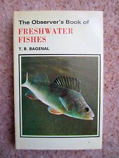 Observer's Book of Freshwater Fishes Dust Jacket 1978 Edition No 6 T B Bagenal