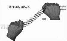 "HO Scale 36"" FLEX TRACK - 25 sections code 100 Steel Black Ties Model Power New"
