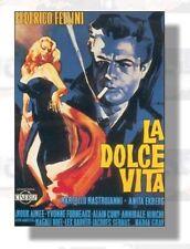 La Dolce Vita di Federico Fellini con Mastroianni Ekberg poster film 70x100