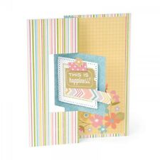 SIZZIX THINLITS CUTTING DIE SET - SQUARE FLIP ITS CARD #2 559175 12 DIES