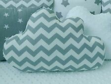 ⭐White Grey Chevron Cloud Shape Cushion Pillow Decorative Nursery Kids Bedroom⭐