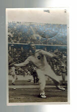 1936 Germany Olympics Gerhard Stock Javelin Throw Real Picture Postcard Cover