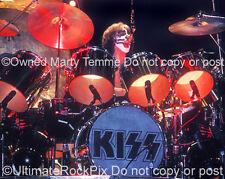 Peter Criss Photo Kiss Pearl Drums 1970s Concert Photo by Marty Temme 1A
