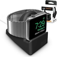 Orzly Night Stand Mount for Apple Watch Charger Dock Holder w Cable Slot Black