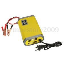 12V 6A Chargeur de batterie Auto voiture recharge automatique intelligent jaune
