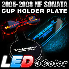 Surface Emission LED Lettering Cup Holder Plate For HYUNDAI 2006-2010 NF Sonata