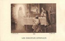 "OLD nice french rare Holy cards from 1920""H5720"" les disciples d emmaus"