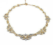 N659 Betsey Johnson Brides Crystal Gem Wedding Accessories Cocktail Necklace US