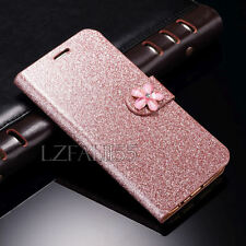 Luxury Bling Glitter Magnetic Flip Wallet PU Leather Case Cover For Apple iPhone