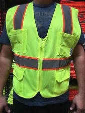 XXL  ANSI CLASS 2  Bordered Reflective Tape/  High Visibility Safety Vest