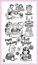 Kids Birthday Party ~ clear stamps set vintage FLONZ 253 rubber acrylic
