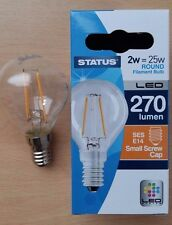 4 x 2w LED Round Clear Filament Light Bulb Lamp SES Small Screw In E14 25w Cheap