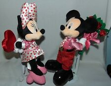 Disney World Mickey Minnie Valentine Plush 2006 NWT Stands not included