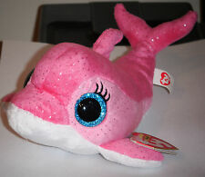 Ty Beanie Boos - SURF the Pink Dolphin (Glitter Eyes) (6 inch) - MWMTs ~ RETIRED