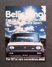[GCG] M960 - Advertising Pubblicità - 1980 - FIAT 127 NUOVE VERSIONI