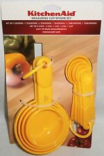 KitchenAid Measuring Cup/Spoon Set   Yellow   Set of 5 Spoons and 4 Cups