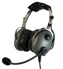 SL-900M Grey SkyLite Aviation Pilot MP3 Headset wt Gel, GA Dual Plug + Free Bag