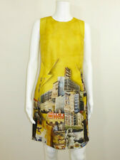 VERSACE - YELLOW SILK PRINT DRESS SIZE 38 UK 6
